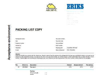 Track & Trace ERIKS
